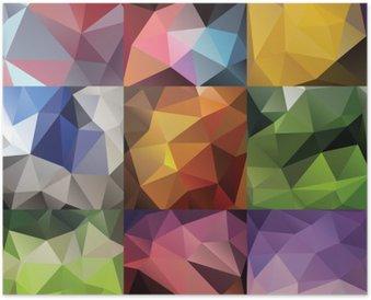 Plakát Geometrický trojúhelník velká sada
