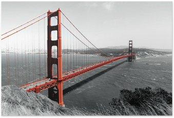 Plakát Golden Gate Bridge Red Pop na B