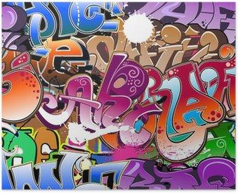 Plakát Graffiti bezproblémové pozadí