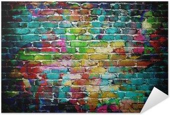Plakát Graffiti cihlová zeď
