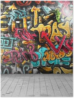 Plakát Graffiti na zeď
