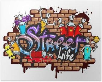 Plakát Graffiti slovní znaky složení