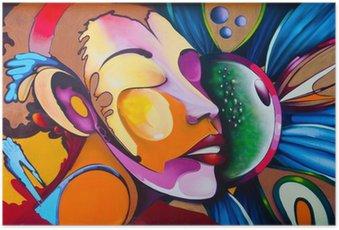 Plakát Graffiti tvář