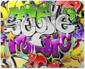 Plakát Graffiti Urban Art pozadí. Bezešvé provedení