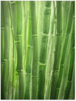 Plakát Green bambus