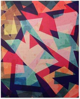 Plakát Grunge geometrický bezešvé vzor