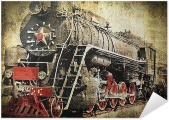 Plakát Grunge parní lokomotiva