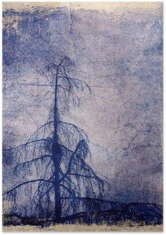Plakát Grunge pozadí s modřínu