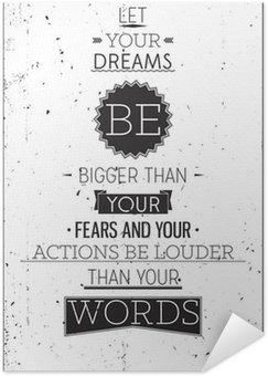 Plakát Grunge retro stylu motivační plakát s typografií