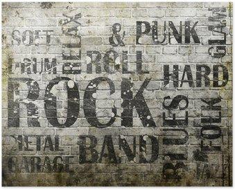 Plakát Grunge rocková hudba plakát