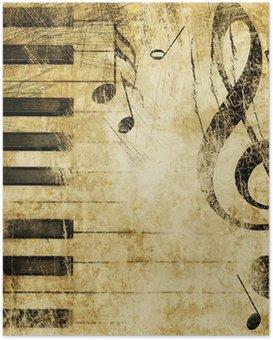 Plakát Grungeové hudby