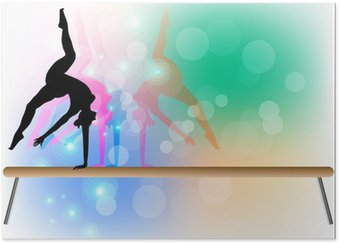 Plakát Gymnastika - Beam