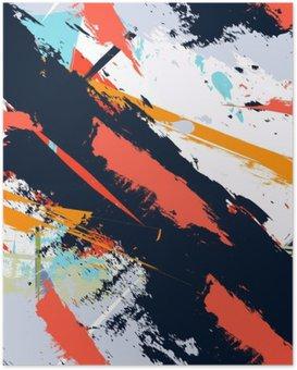 Plakat HD Abstract Art grunge awaryjną bez szwu wzór