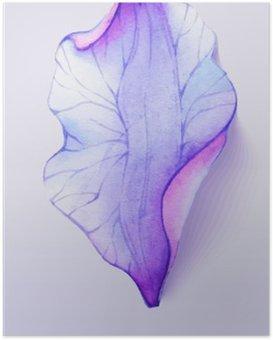 Plakát HD Akvarel element okvětních lístků