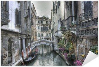 Plakat HD Gondola, pałace i Most, Wenecja, Włochy