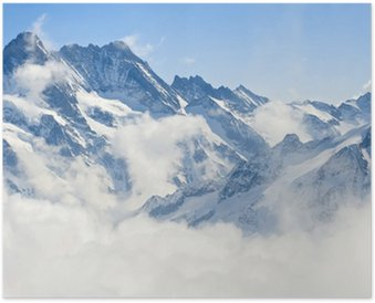 Plakat HD Górski krajobraz Alp