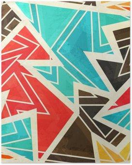 Plakat HD Młodzieży geometryczne szwu z mocą grunge