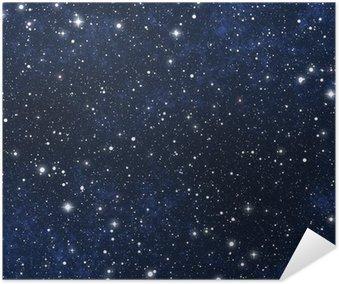 Plakat HD Nocne niebo gwiazdy wypełnione