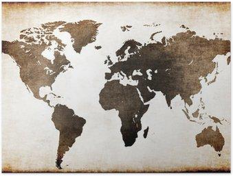 Plakát HD Old World Map