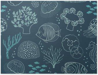 Plakát HD Podmořský život vzor