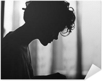 Plakat HD Portret dziewczyny sylwetka