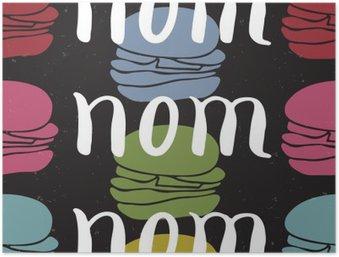 Plakát HD Potraviny typografické citát karta
