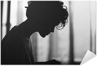 Plakát HD Silueta dívka portrét