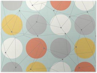 Plakát HD Skandinávský geometrické moderní bezešvé vzor