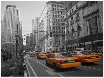 Plakát HD Taxies na Manhattanu