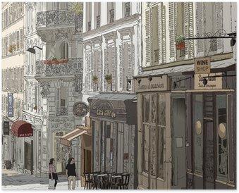 Plakat HD Ulica w Montmartre