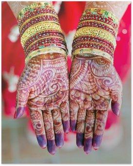 Plakát Henna svatba designu