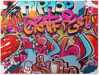 Plakát Hip hop graffiti urban art pozadí