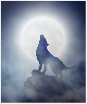Plakát Howling Wolf