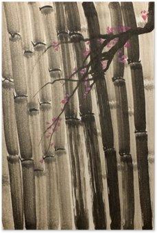 Plakát Hustý les bambusu