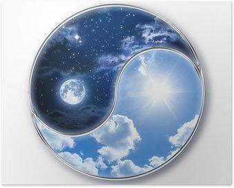 Plakát Ikona tao - měsíc a slunce