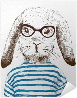 Plakát Ilustrace oblečená zajíčka