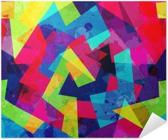 Plakát Jasný geometrický bezešvé vzor s grunge efekt
