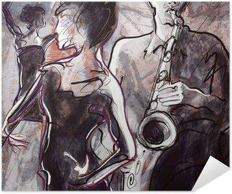 Plakát Jazz band s tanečníky