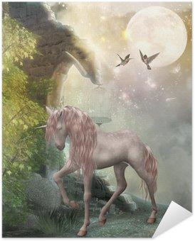 Plakát Jednorožec v měsíčním světle