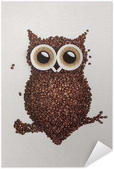 Plakát Káva sova.