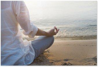 Plakat Kobieta medytacji