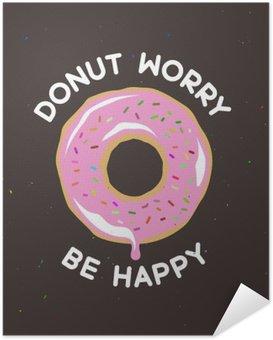 Plakát Kobliha worry be happy ročník plakát. Vektorové ilustrace.