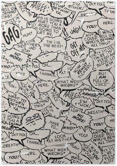 Plakát Koláž z komické bubliny knihy dialog
