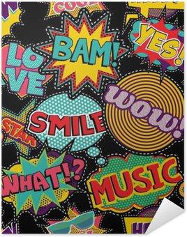 Plakát Komické pop art steh náplast bezproblémové vzor
