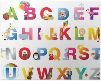 Plakát Kompletní dětské abeceda