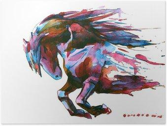 Plakat Koń