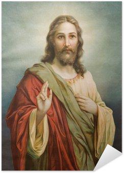 Plakát Kopie typické katolické obrazu Ježíše Krista