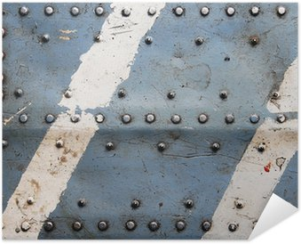 Plakát Kovové textury s nýty, trupu letadla