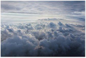 Plakát Krásná modrá obloha pozadí