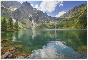 Plakát Krásné scenérie Tater a jezero v Polsku